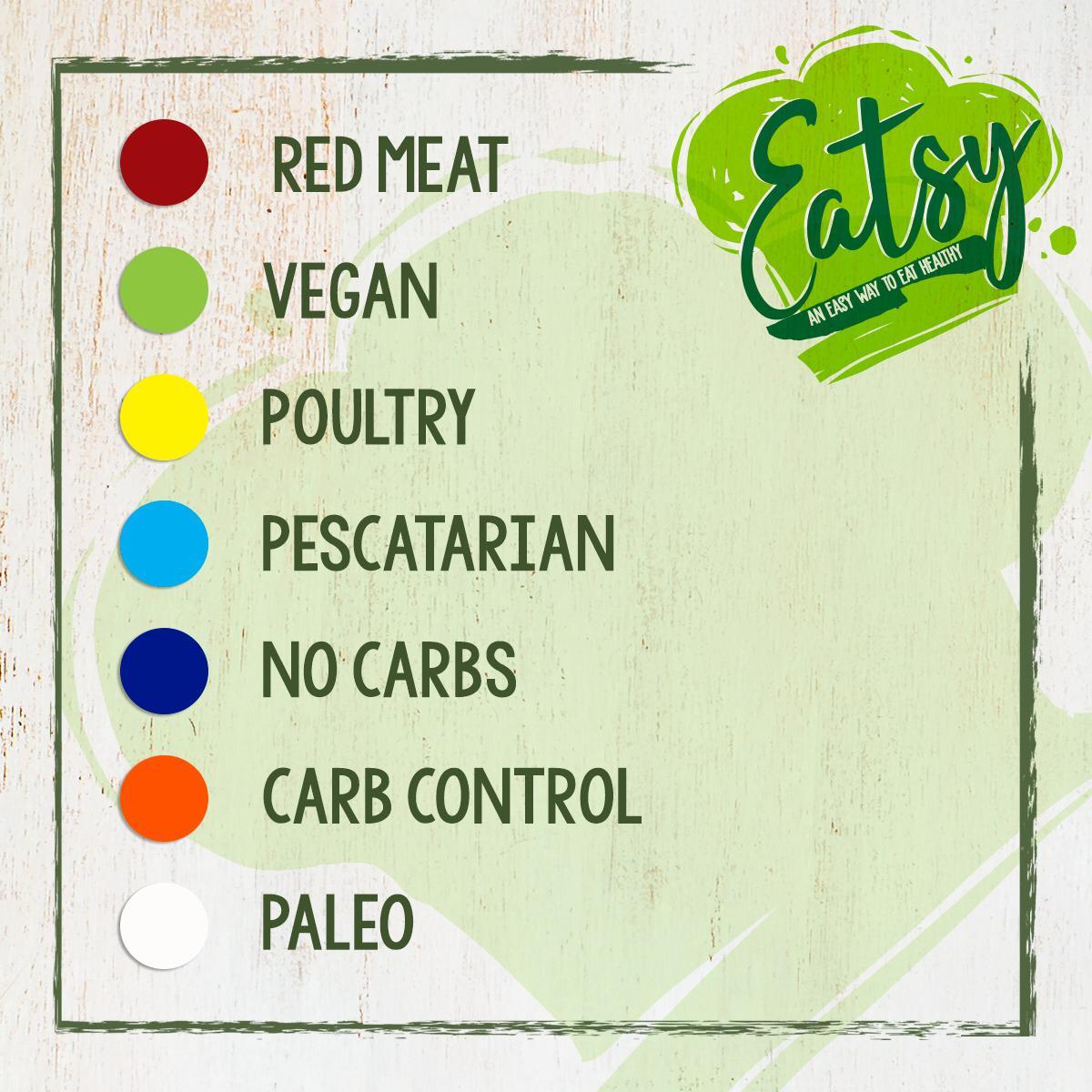 Eatsy Miami meal types